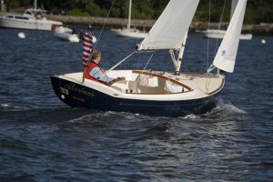 Alerion 20 Sailing in Newport Harbor, RI