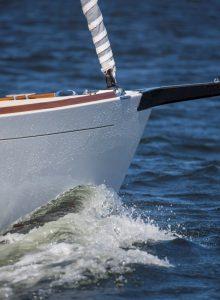 Alerion 30 sailing in Narragansett Bay RI.